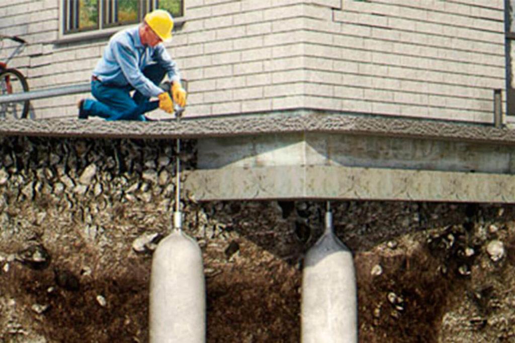 Стабилизация зданий, фундамента и грунта под ним